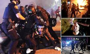 Chaos erupts in Portland on the 79th night of violence after police declare  an unlawful assembly | Daily Mail Online