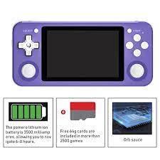 RG351P Nâng Cấp Mini Chơi Game Cầm Tay 3.5 Inch HD Lớn Màn Hình Video Máy  Chơi Game Người Chơi Retro Tay Cầm Chơi Game Với 64G Thẻ SD|Handheld Game  Players