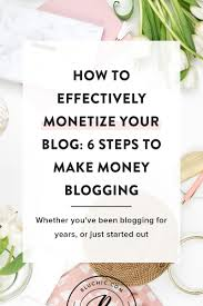 How To Effectively Monetize Your Blog 6 Steps To Make Money