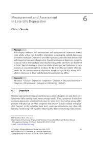 measurement and assessment in late life depression springer inside