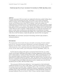public speaking evaluation essay final student evaluation essay slideshare