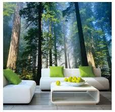 photo wallpaper 3d forest sunshine