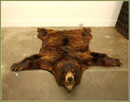 fake bear skin rug pattern faux rugs for