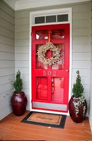 Vintage Red Storm Door With Clear Glass Screen Door Window Also ...