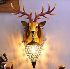 2021 deer antler wall lamp north