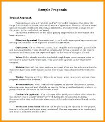 Sample Project Proposal Template Free Document Example For