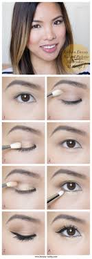the beauty vanity urban decay palette gold everyday makeup tutorial for asian hooded eyes