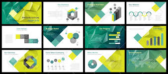 Company Overview Slides Business Presentation Templates Vector Infographic Elements