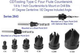 wood drill bits types. 82 degree countersink to mount on drill bits type c 1/4 1 inch wood types