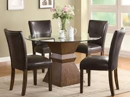 round gl top dining room table with 4 chairs