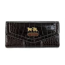 Discount Coach Madison In Embossed Large Coffee Wallets Edo Outlet 5Df0j
