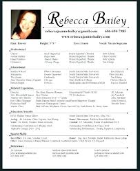 Bistrun Theatre Resume Template Here Are Free Acting Actor Cv Word
