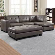 grey leather couch sectional sofa