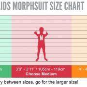 Morphsuit Size Chart Morphsuits Arachnomania Kids Spider Monster Fancy Dress Up Costume Size Medium