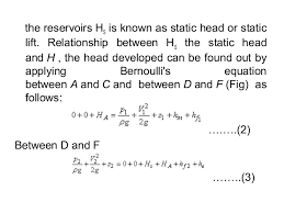 bernoulli 39 s equation pump. 11. centrifugal pumps bernoulli 39 s equation pump