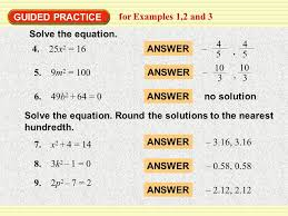 example 1 guided practice solve quadratic equations for examples 1 2 and 3