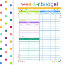Weekly Bill Planner Magdalene Project Org