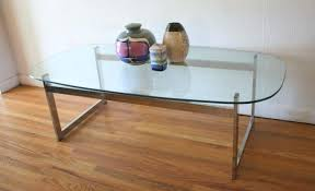 mid century modern glass and chrome coffee tables picked vintage table side tab