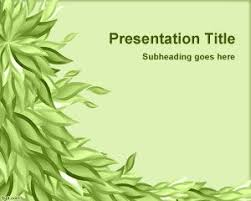 Green Leaves Powerpoint Template Background Is A Free Ppt Template