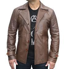 70 s vintage men s leather jacket 100 genuine leather kilt and jacks