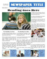 Write Your Own Newspaper Article Template How To Write A Newsletter Article For School School