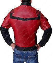 free jacken mäntel daredevil matt murdock charlie maroon padded leather jacket