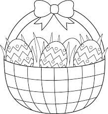 Coloring Pages Easter Eggs J6353 Egg Basket Coloring Pages Easter