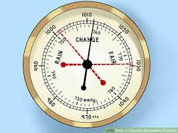 Barometric Pressure Trend Chart How To Calculate Barometric Pressure 6 Steps With Pictures