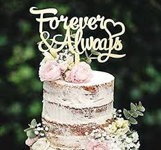 Grand Forever Decoration Amazon Com Wooden Cake Toppers And Always