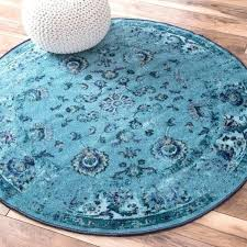 round turquoise rug traditional vintage inspired fl turquoise rug round turquoise area rug target