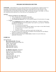 Resume Reference Examples Resume Template References Section Of Bunch Ideas Sample Reference 100
