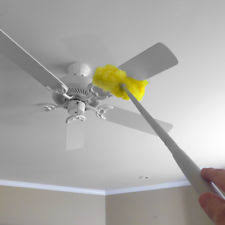 ceiling fan duster with extension pole. evelots removable \u0026 washable microfiber ceiling fan duster - up to 47 with extension pole