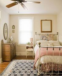 Bedroom Design Ideas Vintage Cottage Country Bedroom Brass Bed Quilts Feed Sack Pillow