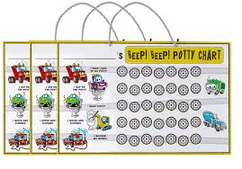 Beep Beep Potty Training Chart 3 Charts With 189 Reward Stickers Early Learning To Build Self