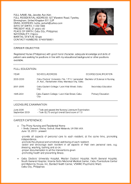 Sample Resume Nursing Fabulous Resumes Free Career Inside Format 13 ...