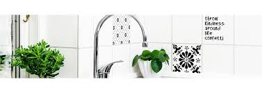 danish design tile stickers easy kitchen and bathroom makeover home junkie