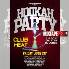 Flyer Template Hookah Party Psd - Mixtapepsd.com