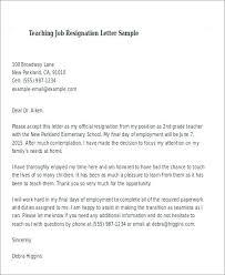 Resignation Letter Format For A Teacher Copy Resume Samples For