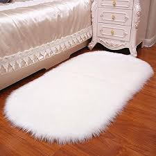 oval faux fur sheepskin rug carpet kids plat mat soft faux sheepskin chair cover home decor accent for kid s room children rug canada 2019 from starch