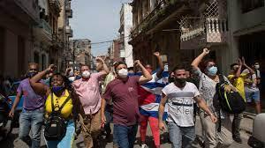 rare protests in Cuba ...