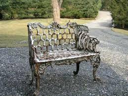 white cast iron patio furniture. victorian kramer bros cast iron garden bench by ebay seller sandstonelion style outdoor wicker furniture wrought patio white