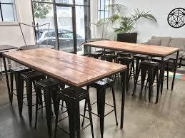 industrial reclaimed wood furniture. Custom Made Industrial Reclaimed Wood Table With Blackened Steel Base Furniture O