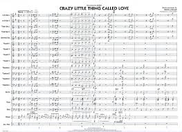 crazy little thing called love sheet music crazy little thing called love jazz ensemble big band popular