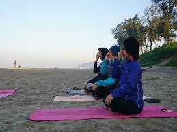 practice at beach