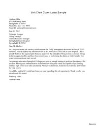 Clericaler Letter For Specialist With No Experience Sample Support
