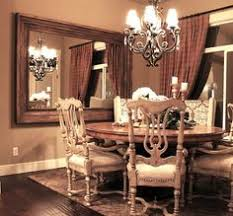 large wall mirrors for dining room. Simple Dining Large Woodframed Mirror Mounted On The Dining Room Wall And Wall Mirrors For Dining Room