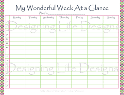 Week At A Glance Calendar Template Day At A Glance Calendar Template Williamson Ga Us