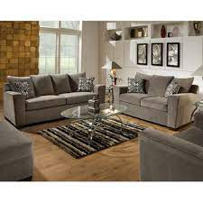 simmons upholstery ventura smoke sofa