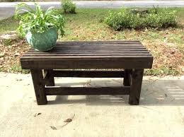 pallet outdoor bench diy. Diy Pallet Outdoor Bench Low Cost Wooden Dark Stained F .