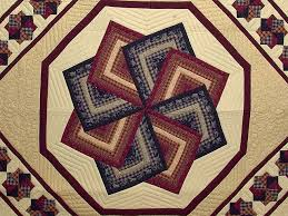 Star Spin Quilt -- wonderful made with care Amish Quilts from ... & ... King Navy Burgundy and Tan Star Spin Quilt Photo 3 ... Adamdwight.com